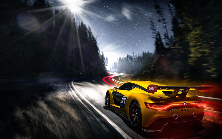 Download Wallpapers Renault Sports Rs 01 Night Hypercars