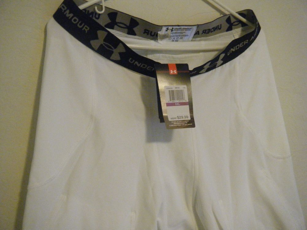 New under armour compression shorts football white 1000029