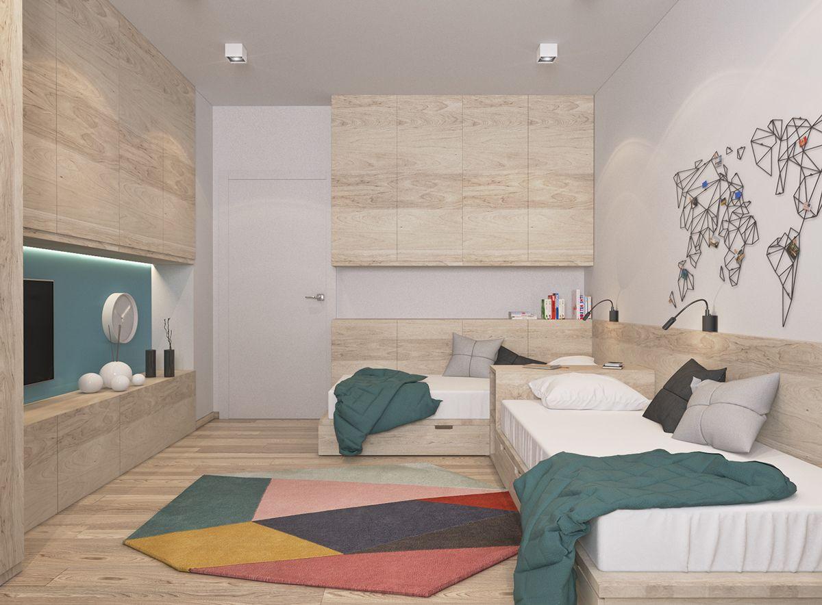 Kids Room On Behance Podrostkovaya Mebel Devchachi Komnaty
