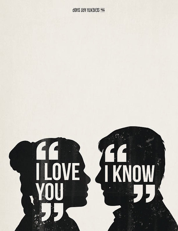 I Love You I Know Leia And Han Solo Valentines Day Card Romantic