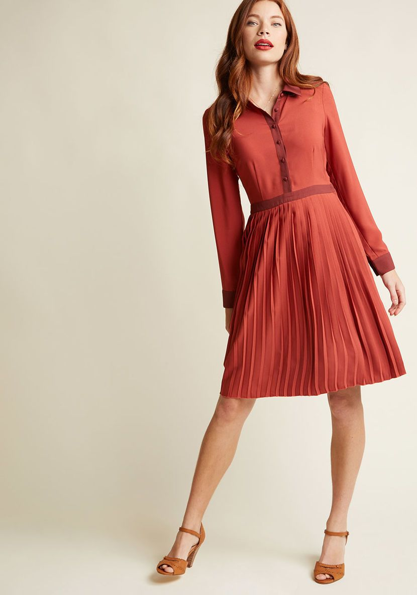Just my typist long sleeve shirt dress in navy the wish list