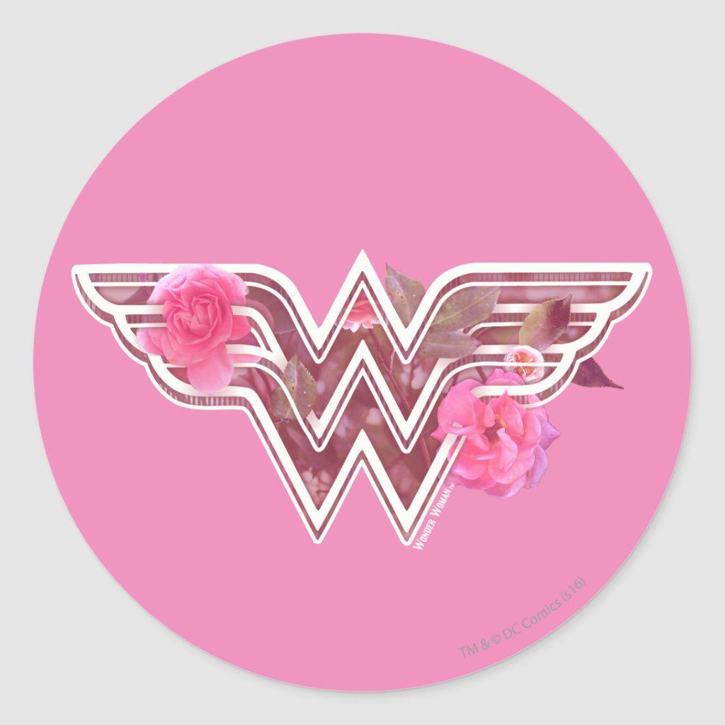 Wonder Woman Pink Camellia Flowers Logo Classic Round Sticker Zazzle Com Wonder Woman Design Wonder Woman Logo Wonder Woman [ 1024 x 1024 Pixel ]