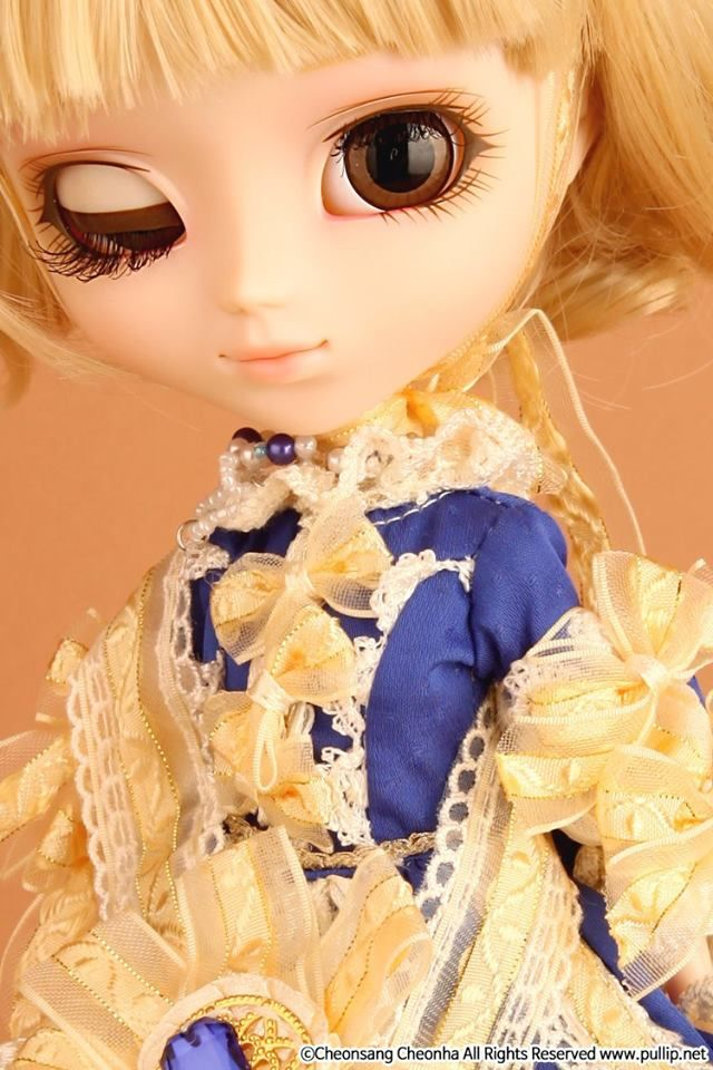 Pullip la robe vert bleu royal