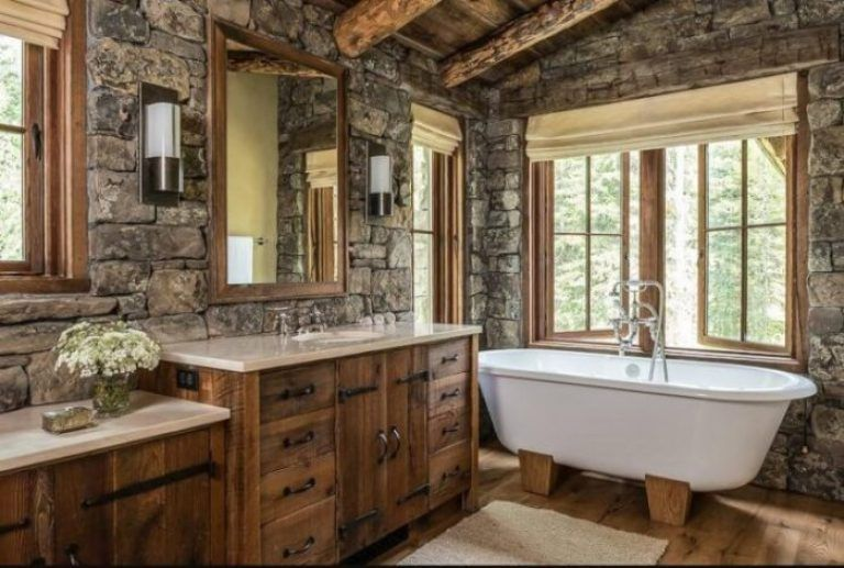 25 Rustic Style Ideas With Rustic Bathroom Vanities Domek Lazienka