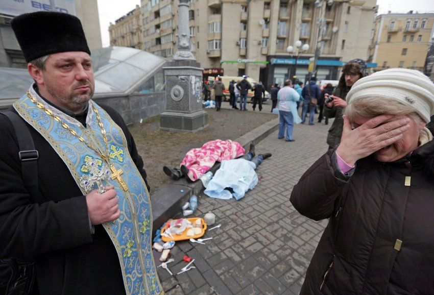 Dead bodies on the streets of Kiev. Europe has agreed on sanctions against...