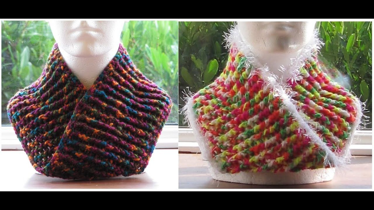 how to make a mobius cowl or scarf  crochet scarf easy