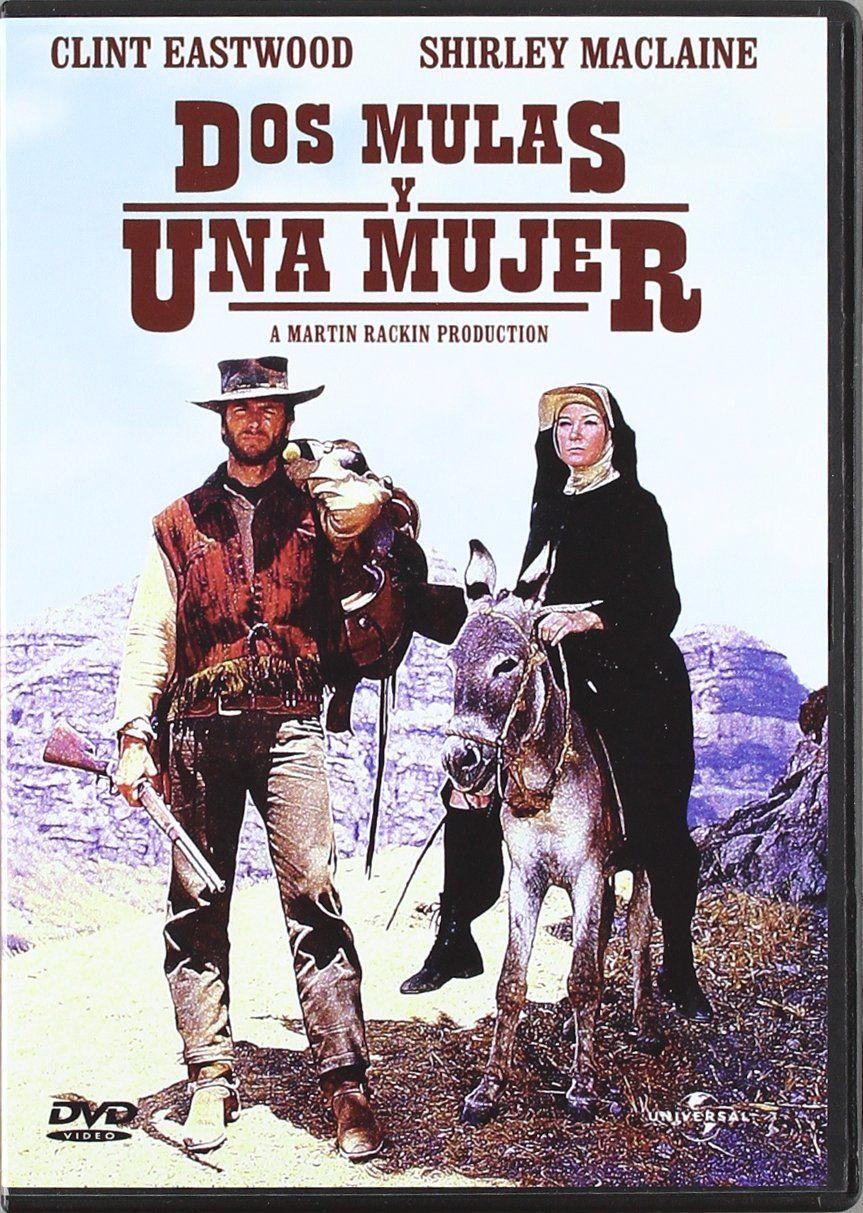 Dos Mulas Y Una Mujer Dvd Ad Mulas Dos Una Dvd Clint Eastwood Comic Book Cover Clint