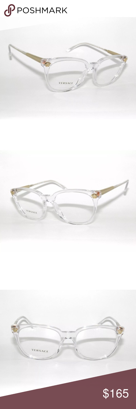 572be6708a6 Versace transparent Eyeglasses 3242 Brand new Comes with Versace case. Authentic  Versace Accessories Glasses