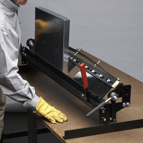 The Mb48b Pan Style Mini Brake Is Designed To Fabricate Drip Pans And Register Boxes As Well As Complex C Sheet Metal Tools Metal Bender Metal Bending Tools