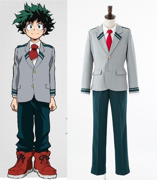 Boku no//My Hero Academia Izuku Katsuki Cosplay Costume Boy/'s School Uniform+Belt