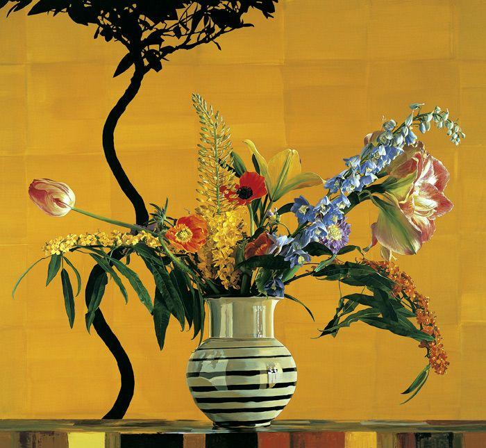ben schonzeit artist | Schonzeit's floral still life paintings are abstract in conception ...