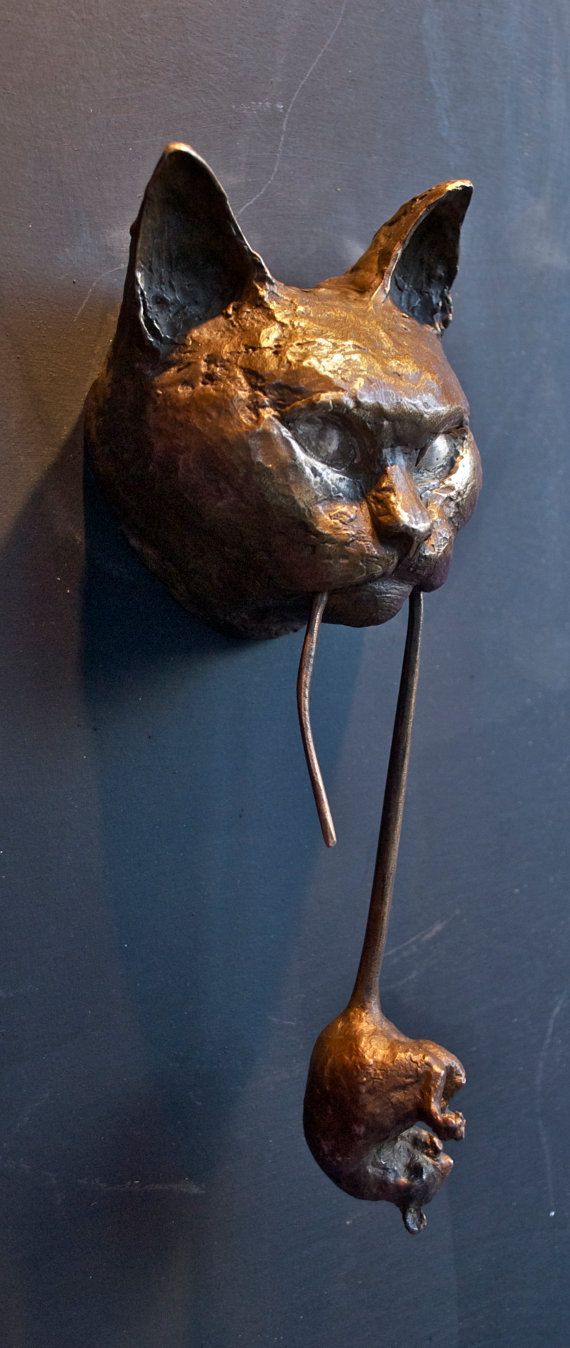 Cat Door Knocker Bronze By Casadelgatto On Etsy (Original Art   The Others  Are Worth A View Here: ...