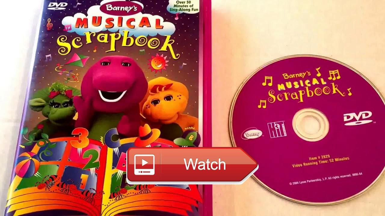 Barney Musical Scrapbook Video Barney Friends Dvd Collection Display