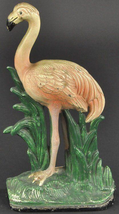 Flamingo Doorstop On Door Stops Door Stop Antique