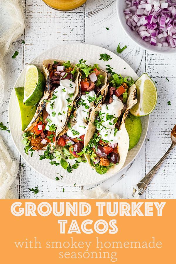 Healthy Ground Turkey Tacos #groundturkeytacos