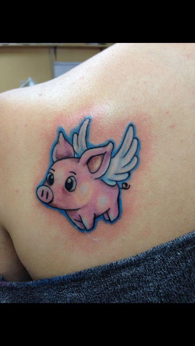 Flying Piggy Tattoo