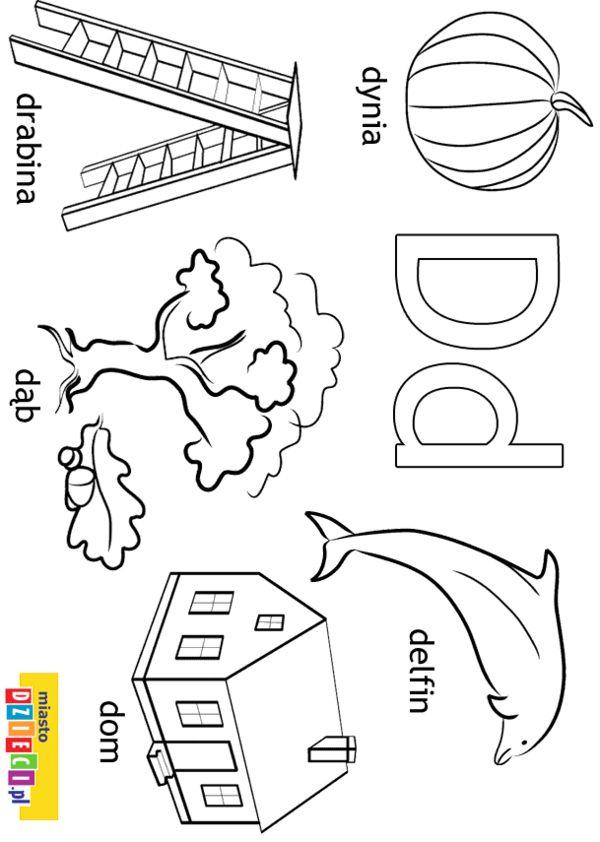 Alfabet Kolorowanki Dla Dzieci With Images Alfabet