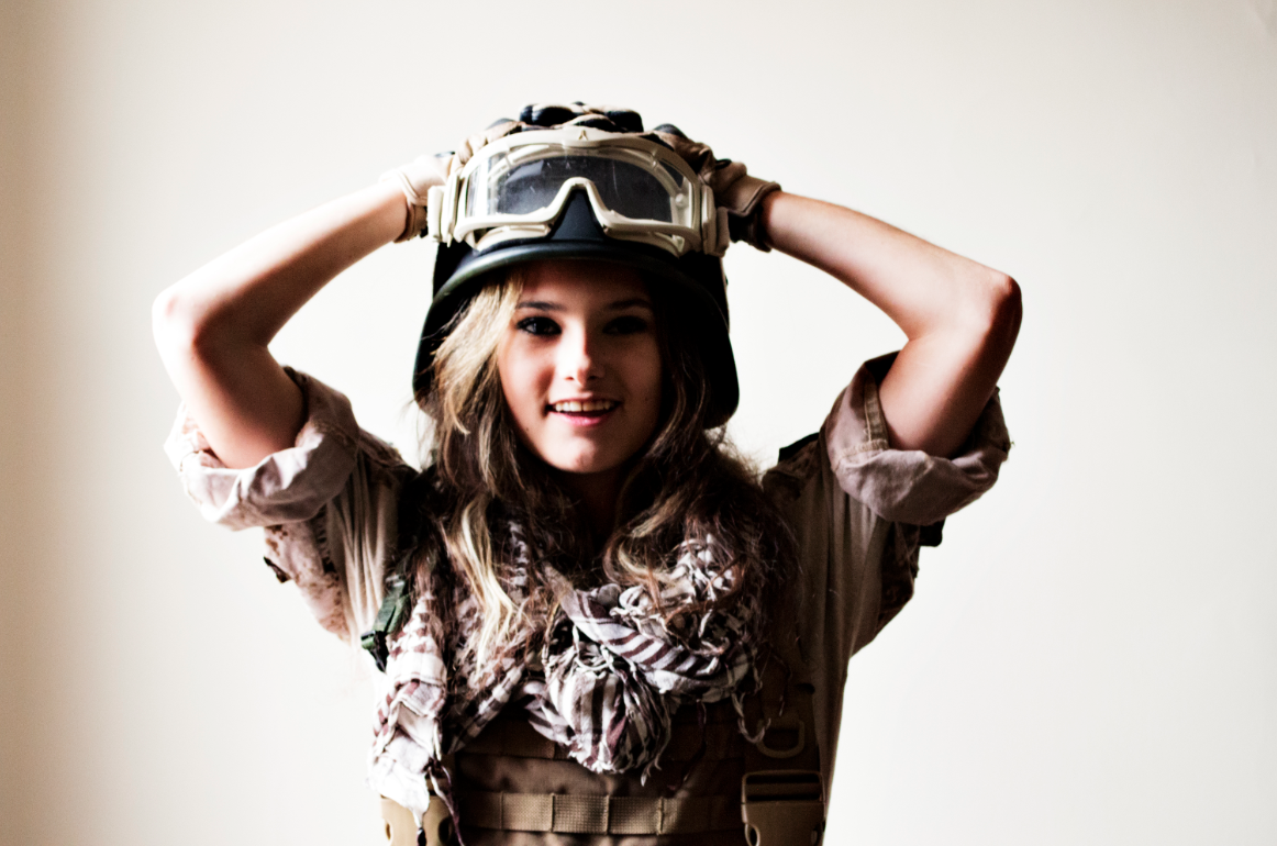Girl ready for Milsim.