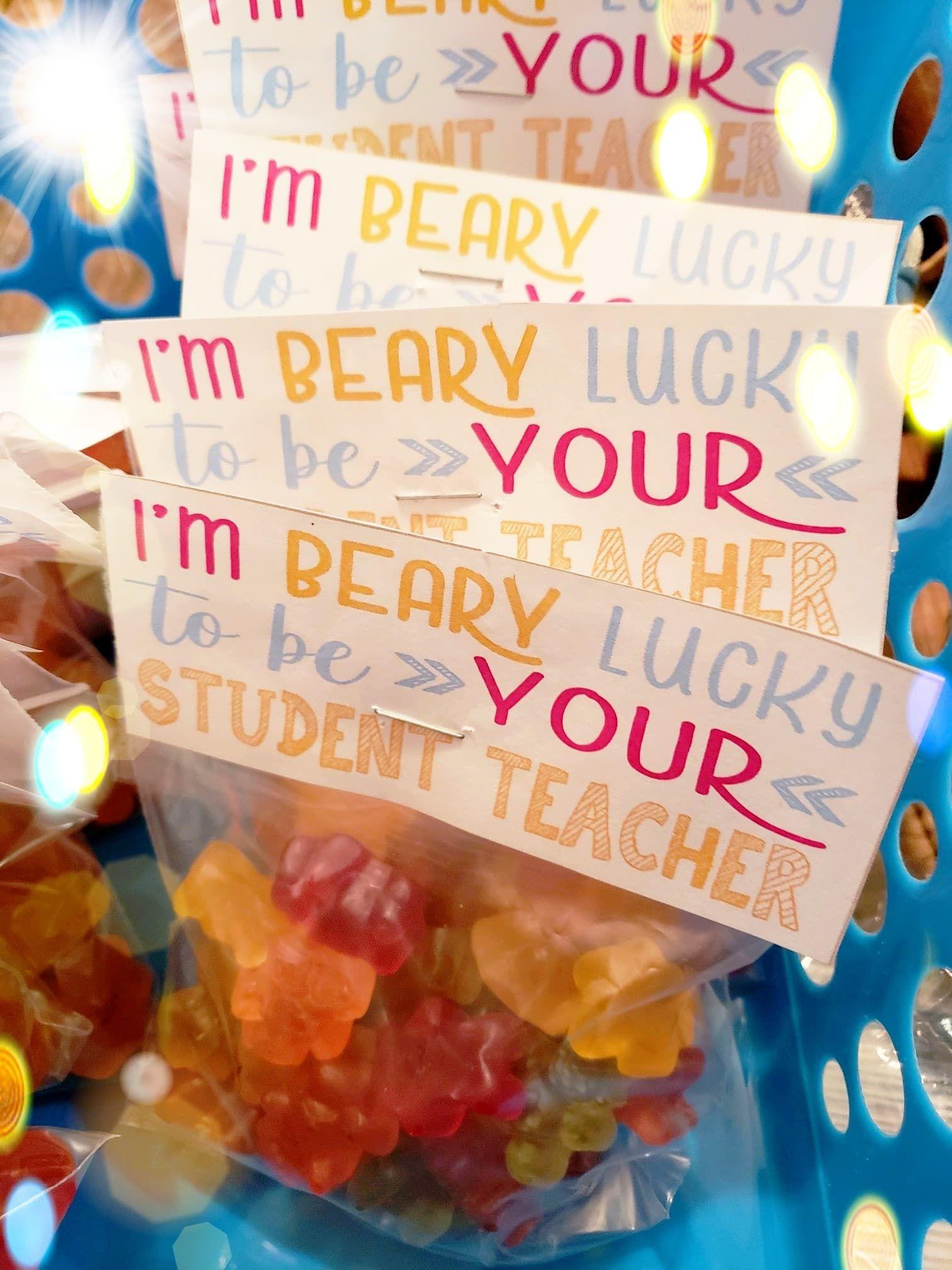 Gummy Bear Treat Label