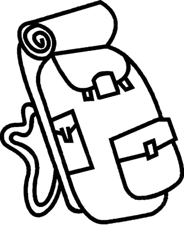 Camping Backpack Coloring Pages For Kids Netart Coloring Pages For Kids Coloring Pages Camping Backpack