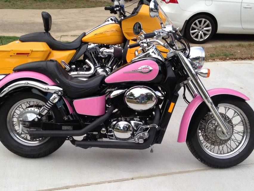 pink motorcycle honda shadow 750 my bike pinterest motorcycle honda motorcycles and honda. Black Bedroom Furniture Sets. Home Design Ideas