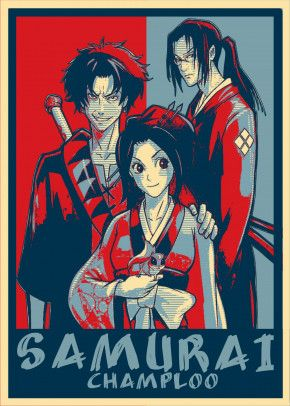 Samurai Champloo Poster Print By Miracle Studio Displate In 2021 Samurai Champloo Samurai Samurai Art