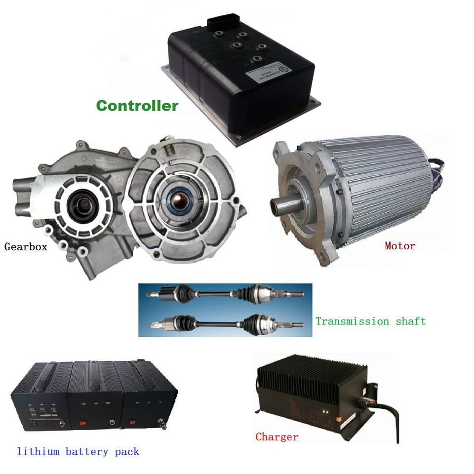 10kw Plug In Hybrid Cars Conversion Kits With Motor Controller And Battery Etc