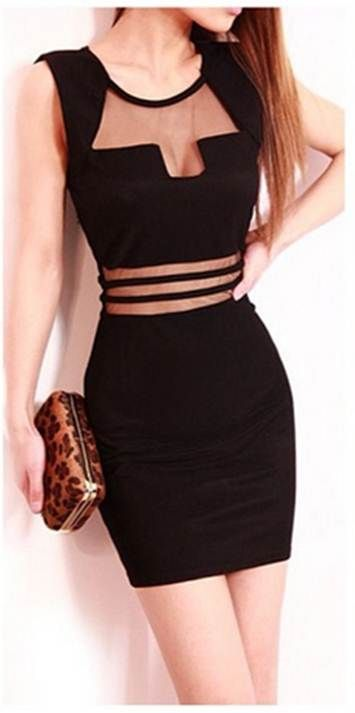 Vestido negro corto pinterest