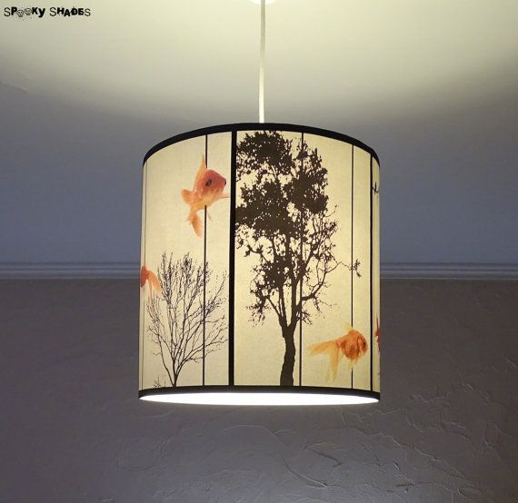 Fish Carousel pendant lamp shade lampshade  by SpookyShades