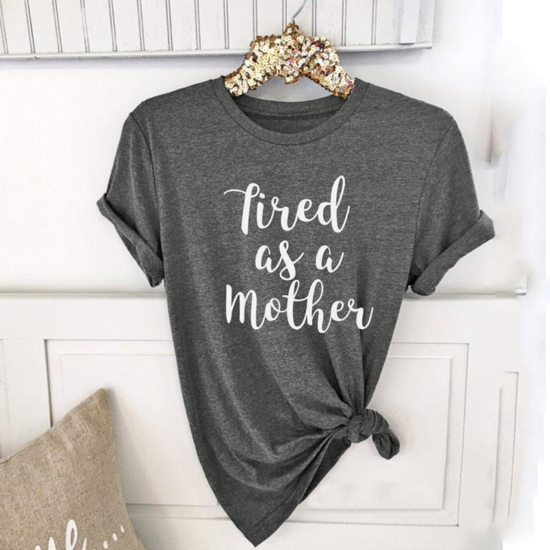 Tired as a Mother Casual tops, T shirts for women, Arrow