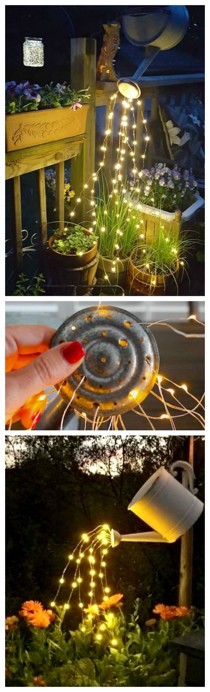 How To Make A Glowing Watering Can With Fairy Lights So Beautiful And So Easy To Make Giesskanne Lichterkette Garten Landschaftsbau