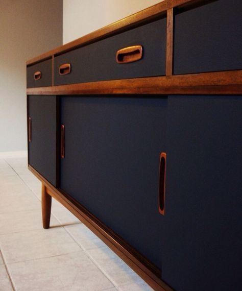 You Donu0027t Have To Shine To Have Blingu2026Matte Black Is White Hot   Peachy The  Magazine. Sideboard IdeasRetro ...