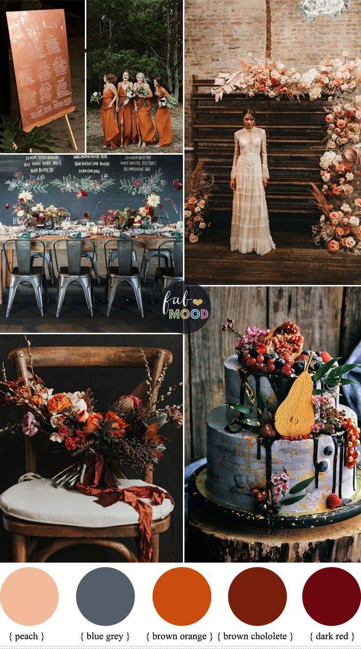 Matrimonio industriale chic Moody Fall con bordo romantico # Matrimonio #colore #Ciao …
