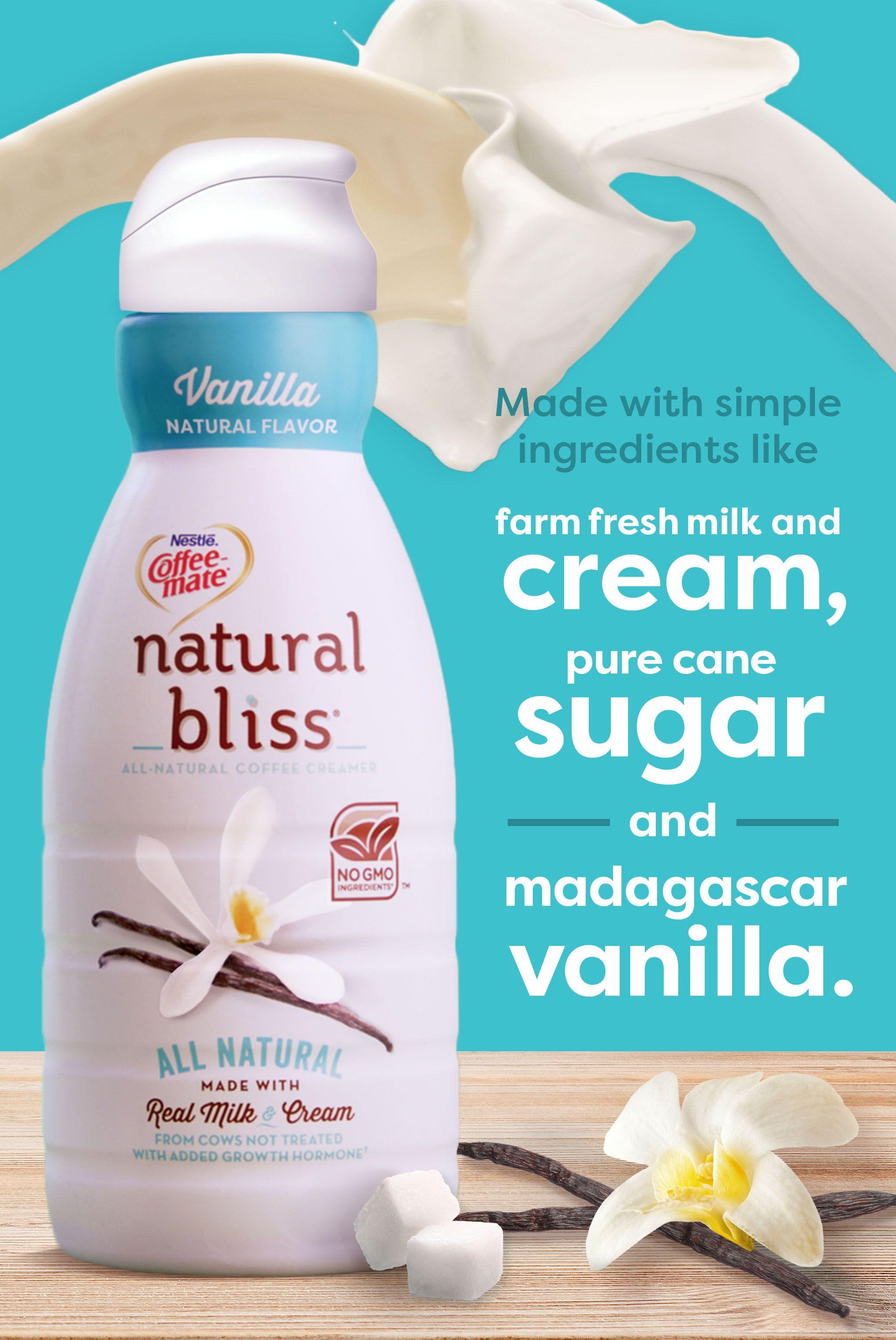 Farm fresh milk and cream, pure cane sugar, and Madagascar