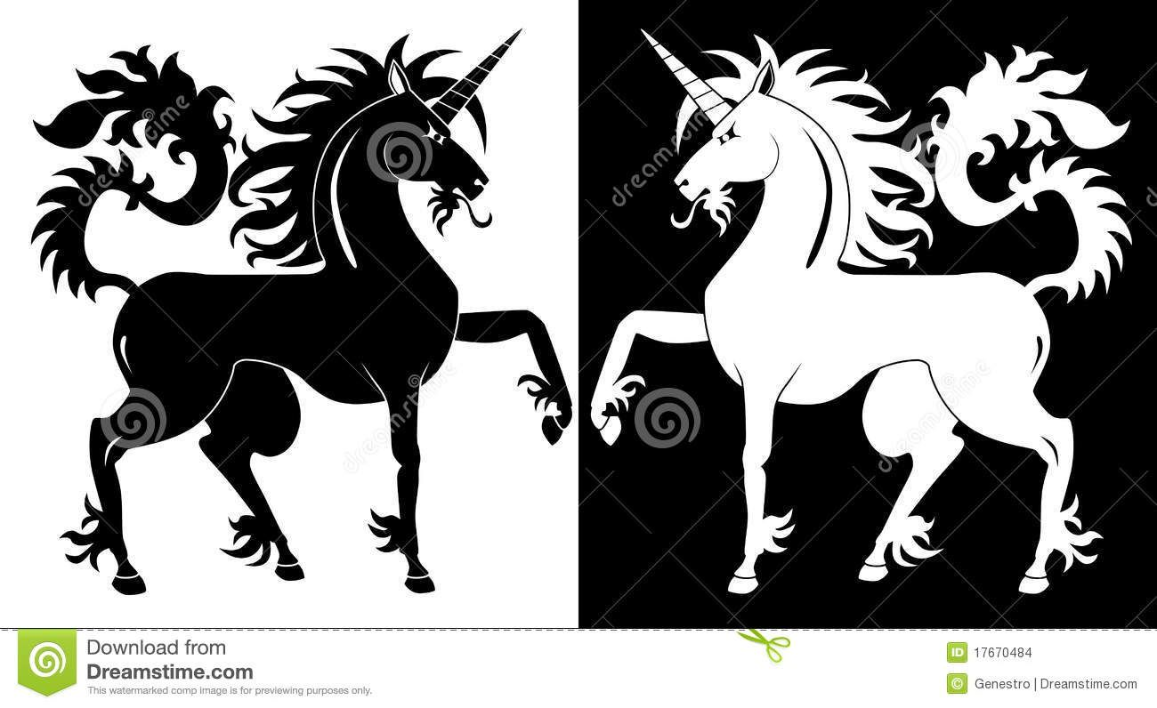Black And White Unicorn - Download From Over 28 Million High Quality Stock Photos, Images, Vectors. Sign up for FREE today. Image: 17670484