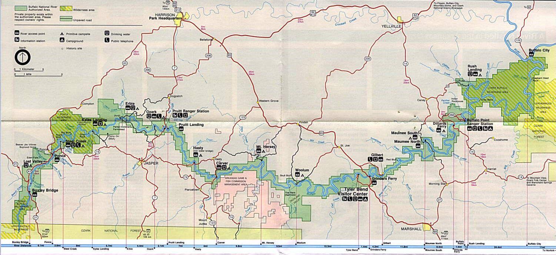 Buffalo River Arkansas Map Canoe Trip Float Trip Arkansas