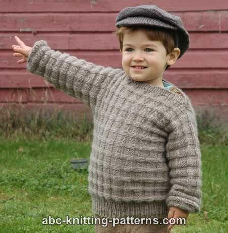 25705ce6fa0c1 ABC Knitting Patterns - Little Boy s Cuff-to-Cuff Sweater.