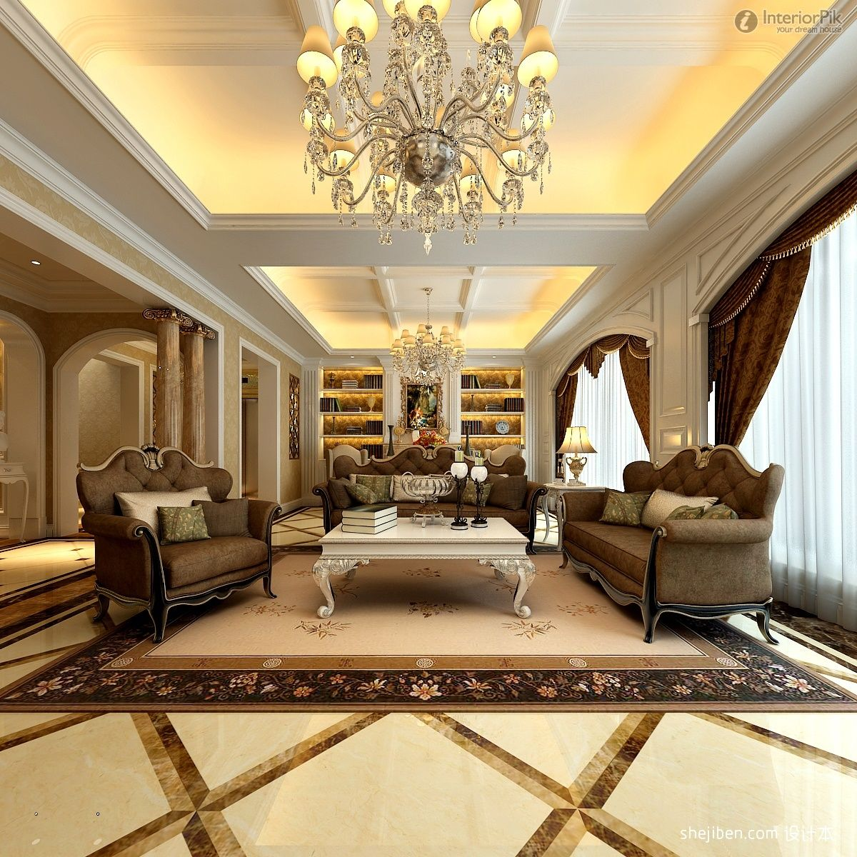 European ceiling lighting for living room with brown sofa sets and european ceiling lighting for living room with brown sofa sets and marble flooring mozeypictures Gallery