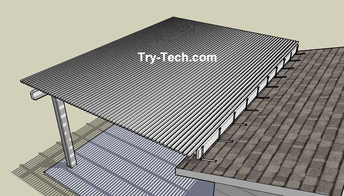 pergola with roof