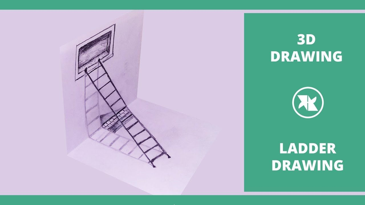Best In This Video Tutorial Let You Show How To Draw 3D Ladder 400 x 300