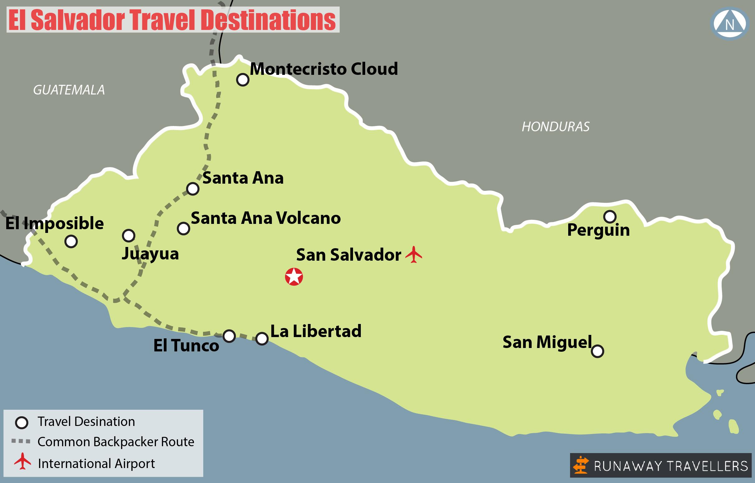 Map Of El Salvador Travel Destinations El Salvador Travel Things To Do Central America Travel