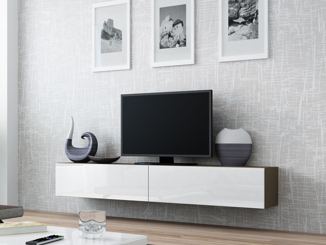 Tv Kasten Tv Dressoir Tv Kastje Zwevend Tv Meubel Tv Tafel  # Meuble Tv Escamotable Lit