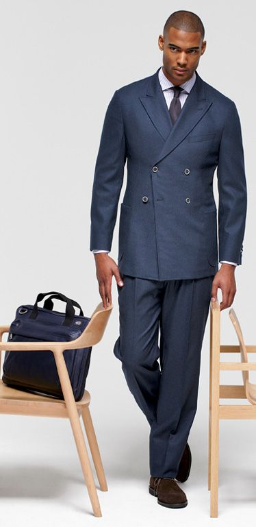 Joseph Abboud Double Breasted Suit Dress Yy