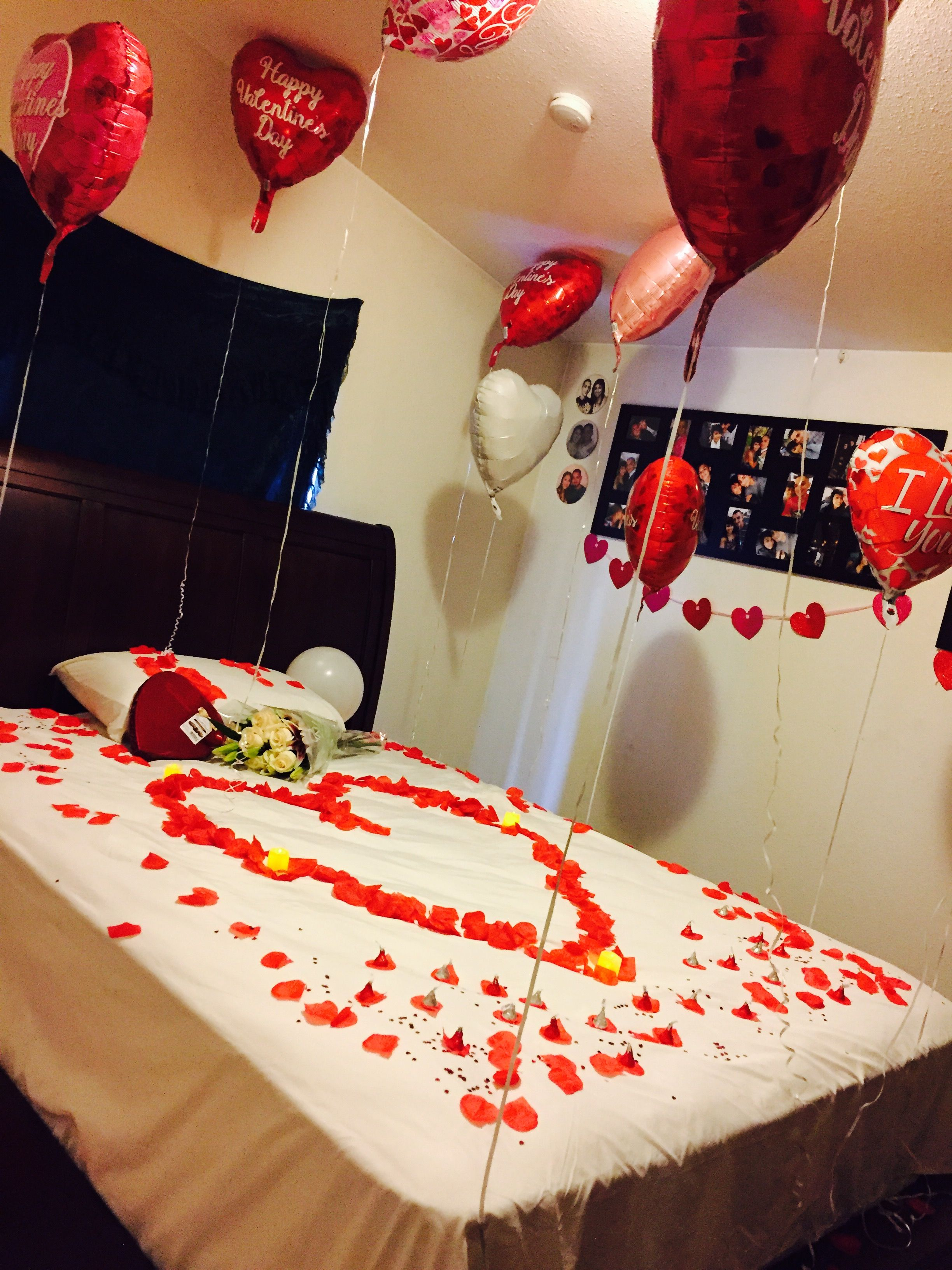 I Decorated My Nephew Room For His Girlfriend On Valentine S Day Decor Valentines Gift Wrapping
