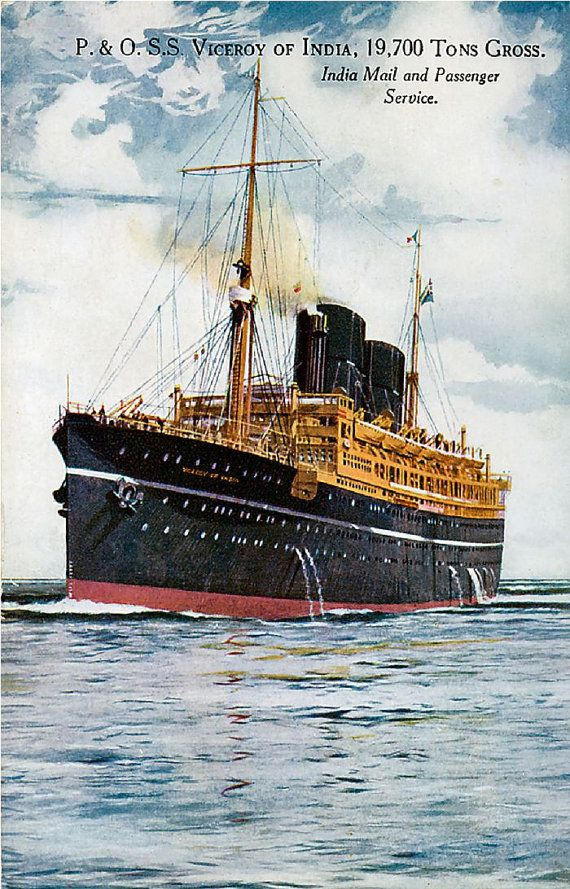 RMS Viceroy of India - reproduction print from vintage