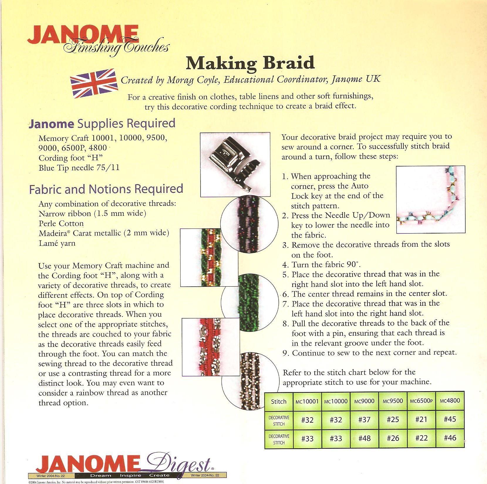 27++ Janome memory craft 3000 power cord ideas