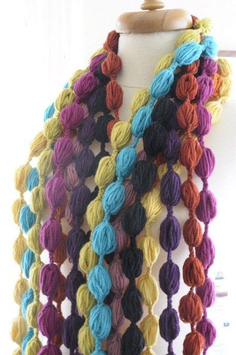 Crochet Bufanda Popcorn | Crochet Scarves and Cowls | Pinterest ...