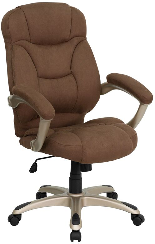 Best High Back Brown Microfiber Contemporary Executive Swivel 640 x 480