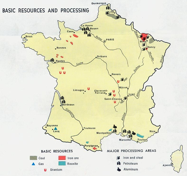 Map Of Texas Natural Resources.France Natural Resources University Of Texas Libraries France