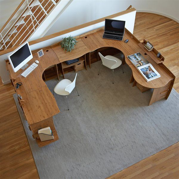 Don T You Love This Sustainable Bamboo Desk Brought To You By Shoplet Co Uk Everything For Your Busines Home Office Design Office Remodel Small Space Office